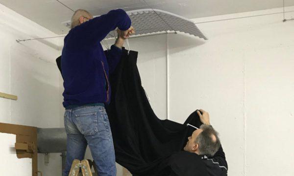 Akkustikvorhang montieren